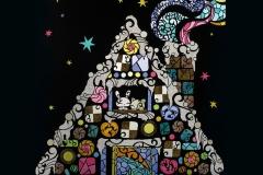 トビラ お菓子の家 size:594×841mm