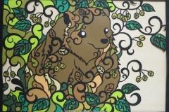 ヒグマ Brown bear size:420×592mm