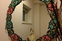 nana展会場キトハルトのレストルームの鏡