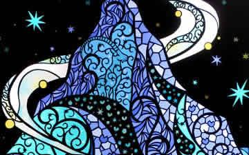 『星空シリーズ』Starry sky - Ligt up Paper art(3作品)